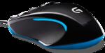 Мышь Logitech G300s игровая, 2500dpi, подсветка, USB, чёрно-синий (910-004345)