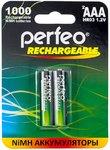 Аккумулятор тип AAA Perfeo 1000mAh (2шт в блистере) PF AAA1000/2BL {1/30}