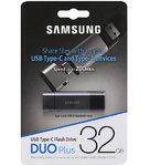 Память USB 3.1/USB Type C  32 GB Samsung DUO Plus, черный/серебристый (MUF-32DB/APC)