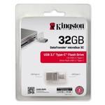 Память USB 3.1/USB Type-C 32 GB Kingston DataTraveler microDuo 3C, серебристый (DTDUO3C/32GB)