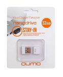 Память USB 2.0 32 GB Qumo Nano White, белый