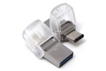 Память USB 3.1/USB Type-C 64 GB Kingston DataTraveler microDuo 3C, серебристый (DTDUO3C/64GB)