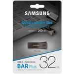 Память USB 3.1 32 GB Samsung BAR Plus, серый (MUF-32BE4/APC)