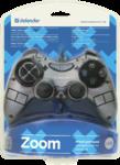 Геймпад Defender Zoom для PC, виброотдача, USB, серебряный