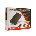 "Внешний модуль AgeStar 3UB2O8-6G 2.5""SATA, алюминий, черный USB3.0"