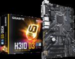 М/плата Gigabyte H310 D3 Socket1151-v2 3xPCI-E/D-Sub/HDMI/2DDR4 ATX RTL