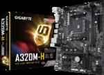 М/плата Gigabyte A320 GA-A320M-H Socket AM4 PCI-E/SATAIII/HDMI/D-DVI 2*DDR4 mATX RTL