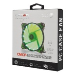 Вентилятор CROWN 120*120*25 1500об/мин 20дБ 16LED 3pin+MOLEX CMCF-12025S-1222, зелёный