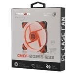 Вентилятор CROWN 120*120*25 1500об/мин 20дБ 4LED 3pin+MOLEX CMCF-12025S-1210, красный