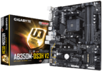 М/плата Gigabyte GA-AB350M-DS3H V2  Socket AM4 PCI-E/HDMI/DVI 4DDR4 mATX RTL