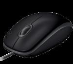 Мышь Logitech B110 Silent, 1000dpi, USB, чёрный (910-005508)