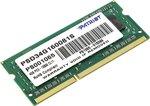 Память SODIMM DDR3 4Gb PC3-1600 Patriot PSD34G160081S 1.5V
