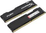 Память DIMM DDR4 16Gb PC4-21300 (2666MHz) Kingston HyperX FURY Black HX426C16FB2K2/16 (2x8Gb)