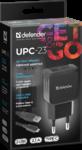 Зарядное устройство сетевое Defender UPC-23 2xUSB,5V/2.1А кабель Type-C