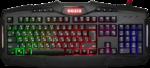 Клавиатура Defender Goser GK-772L игровая, мультимедиа, влагоустойчивая, подсветка, USB, чёрный