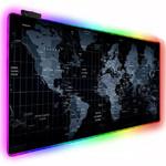 Игровая поверхность  с RGB подсветкой Карта мира (400х900х4мм)