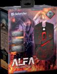 Мышь Defender Alfa GM-703L игровая, 3200dpi, подсветка, USB, чёрный