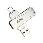 Память USB 3.0/USB Type-C 64 GB Netac U782C, серебристый (NT03U782C-064G-30PN)