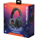 Наушники JBL Quantum 100 игровые, с микрофоном, черный (JBLQUANTUM100BLK)