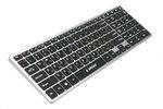 Клавиатура Gembird KBW-2 беспроводная, мультимедиа, бесшумная, USB, чёрно-серебряный