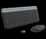 Комплект клавиатура + мышь Logitech Combo MK470 беспроводной, USB, черно-серый (920-009206)
