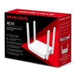 Роутер Mercusys AC10 (2,4/5ГГц) 2х10/100 BASE-TX, 4 антенны, белый