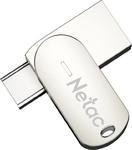 Память USB 3.0/USB Type-C 64 GB Netac U785C, металл. серебристый (NT03U785C-064G-30PN)