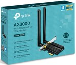 Адаптер беспроводной TP-Link Archer TX50E двухдиапазонный 2,4/5 МГц, 802.11ax,ac,n,a, 2402Мбит/с + 574Мбит/с, PCI-E, 2 внешние антенны