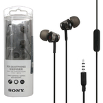 Наушники Sony MDR-EX155AP вкладыши, с микрофоном, чёрный