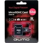 Карта памяти microSDHC [класс 10] 32 GB Qumo+ SD адаптер