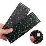 Наклейки на клавиатуру из матового ПВХ (Виниловые) с русскими буквами