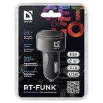 FM-трансмиттер DEFENDER RT-Funk Bluetooth, Hands free, USB, 2.1 A