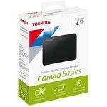 "Накопитель HDD 2000 Gb USB3.0 Toshiba Canvio Basics HDTB420EK3AA, 2,5"" внешний, черный"