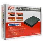 "Внешний модуль AgeStar 3UB2P1 2.5""SATA HDD/SSD, пластик, чёрный, USB3.0"