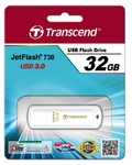Память USB 3.0 32 GB Transcend JetFlash 730, белый (TS32GJF730)