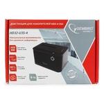 """Докстанция  Gembird HD32-U3S-4 2.5""""/3.5"""" SATA HDD/SSD, пласт, черный, USB3.0"""