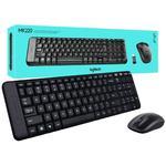 Комплект клавиатура + мышь Logitech Combo MK220 беспроводной, USB, чёрный (920-003169)