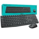 Комплект клавиатура + мышь Logitech Combo MK235 беспроводной, мультимедиа, USB, серый (920-007948)
