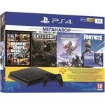 Игровая консоль Sony PlayStation 4 Slim 1Tb + GTA V Premium Edition + Days Gone/Жизнь После + Horizon: Zero Dawn. Comple