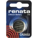 Батарейка дисковая литиевая тип CR2032, Renata CR2032 (1шт в блистере)
