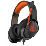 Гарнитура игровая Jet.A GHP-280 черно-оранж., с LED-подсветкой, кабель в нейлоновой оплетке 2,1м